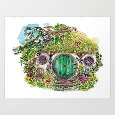 Hobbit hole Art Print