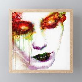 Melancholy in watercolor Framed Mini Art Print