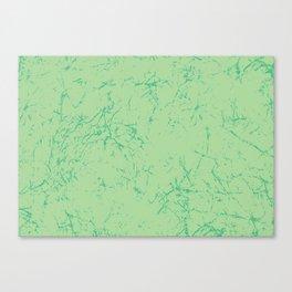 Wax Print Crackle - Emerald Canvas Print