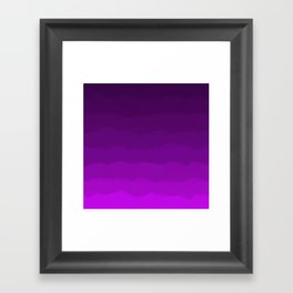 Ultra Violet Waves - Rich Purple Gradient Framed Art Print