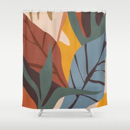 Abstract Art Jungle Shower Curtain