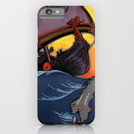 Scandinavia Land of the Vikings - Vintage Travel iPhone Case