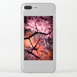 Living Coral Peach Pink Nature Abstract Clear iPhone Case
