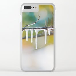 Frozen Icicles Clear iPhone Case