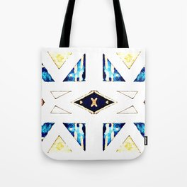 X Triangle Textile Pattern Tote Bag