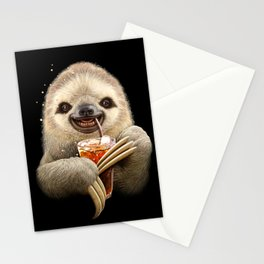 SLOTH & SOFT DRINK Stationery Cards