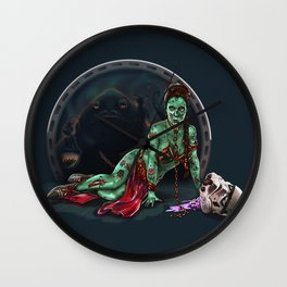 Aren't you a little brainless for a stormtrooper? (Zombie Slaved Princess Leia) Wall Clock