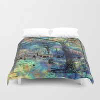 city Duvet Covers featuring CITY by sametsevincer
