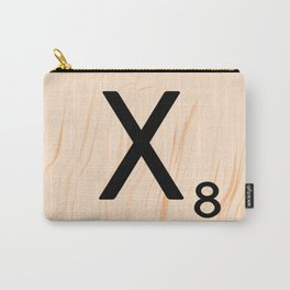 Scrabble Letter X - Scrabble Art and Apparel Carry-All Pouch