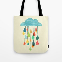 cloudy with a chance of rainbow Tote Bag