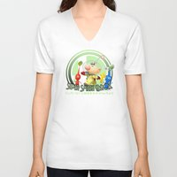 super smash bros V-neck T-shirts featuring Olimar - Super Smash Bros. by Donkey Inferno