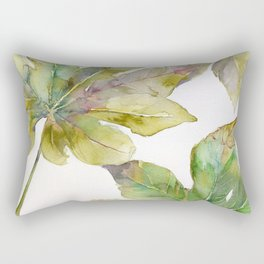 Aralia japonica Leaves Foliage Rectangular Pillow