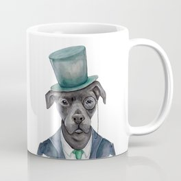 D is for a Dapper Dog   Watercolor Dog Coffee Mug