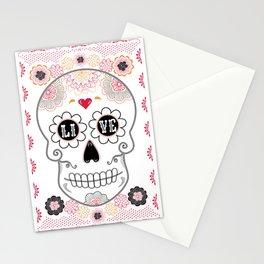 Dia de los Muertos Papel Picado Sugar Skull Stationery Cards