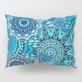 Blue Boho Mandela Pattern 5 Pillow Sham