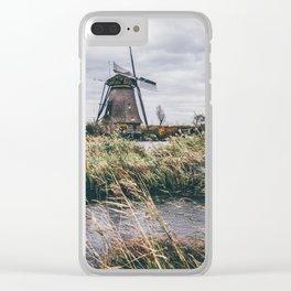 Kinderdijk Windmill Clear iPhone Case