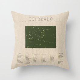 Colorado Parks Throw Pillow