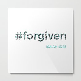 I am #forgiven Metal Print