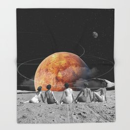 Venus Beach Throw Blanket