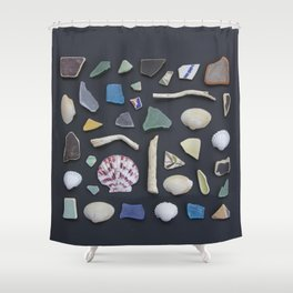 Ocean Study No. 1 Shower Curtain