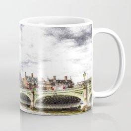 Westminster Bridge London snow Coffee Mug