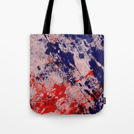 Hot And Cold - Textured Abstract In Blue, Red And Black Tote Bag