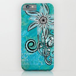 Trbal Floral Theads iPhone Case