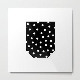 Polka dot pochet Metal Print