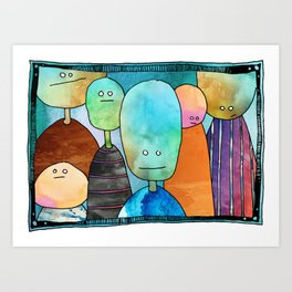 The Quiet Gathering Art Print