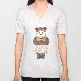 Namaste panda Unisex V-Neck
