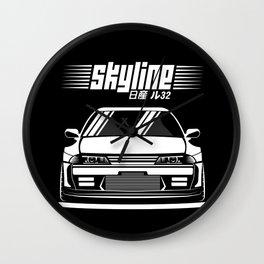 Nissan Skyline R32 Wall Clock