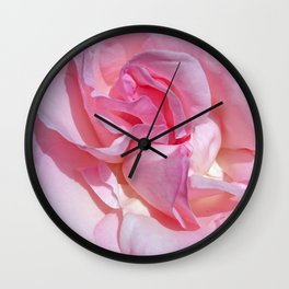 pink rose 4 Wall Clock