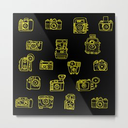 Cameras: Yellow Metal Print