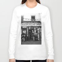 shakespeare Long Sleeve T-shirts featuring Shakespeare Love by MarianaManina