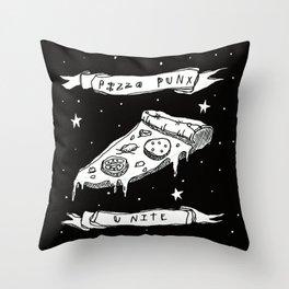 Pizza Punx Unite Throw Pillow