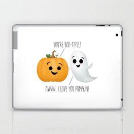 Boo-tiful Couple | Pumpkin & Ghost Laptop & iPad Skin