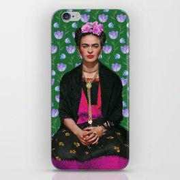 Flowers Frida Kahlo I iPhone Skin