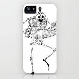 Skeleton Dance iPhone Case