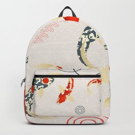 Koi Fish Yin Yang Geometrical Abstract Backpack