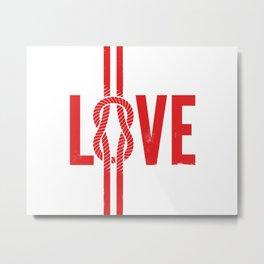 Love Knot (Red) Metal Print