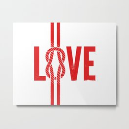 Love Knot (Red) Metal Print
