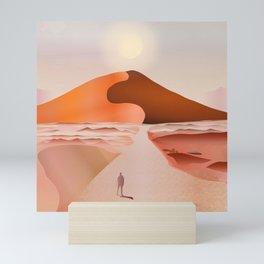 Beautiful Dunes In The Hot Desert Sun Mini Art Print