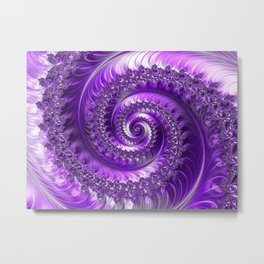 Purple Fractal Art Metal Print