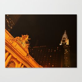 Grand Central and Chrysler Building Canvas Print