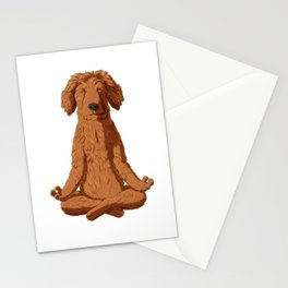Yoga Golden Doodle Stationery Cards