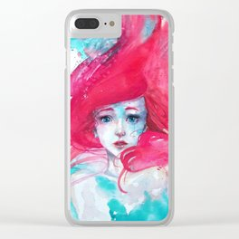 Princess Ariel - Little Mermaid has no tears Clear iPhone Case