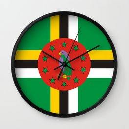 Dominica country flag Wall Clock