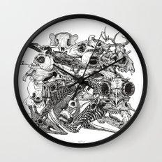 Animal Skulls Wall Clock