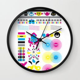 Monsters Ink. Wall Clock
