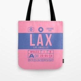 Luggage Tag B - LAX Los Angeles California Tote Bag